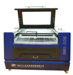 Cortadora y Grabadora Láser de CO2 CMáquina de Corte por Grabado Láser CO2 CCD 80W CD 80W 100W Madera MDF Acrílico Grabador de Corte CNC Máquinas de Corte Láser