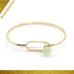 New Fashion 925 Sterling Silver Jewelry 18K Gold Color Jewelry Armband Bangle voor dames
