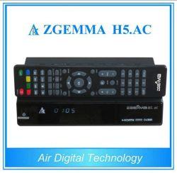 Receptor de TV digital H. 265/Hevc DVB-S2+sintonizadores duplos ATSC Zgemma H5. AC para o México/América Latina