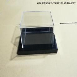 까만 나무로 되는 기초를 가진 주문 아크릴 수집 가능한 전시 상자 전람 케이스