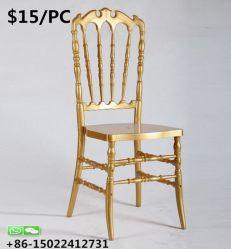 Flash de l'élégance de meubles de la Résine d'empilage Golden banquet de mariage Chiavari Président