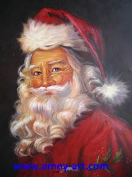 لوحات سانتا كلوز الزيتية المصنوعة يدويا بديكور عيد الميلاد
