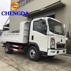 China Sinotruk HOWO Euro 2 3 4 4X2 4x4 uit Road 3.5 ton 5 ton Light Tipper Mini Dump Mini Dumptruck