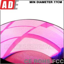 La Junta de la publicidad de LED Flexible con curvas que Shopping Mall LED fachada curva píxeles