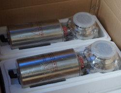 衛生衛生的ステンレススチール製空圧式アクチュエータ溶接バタフライコントロールバルブ