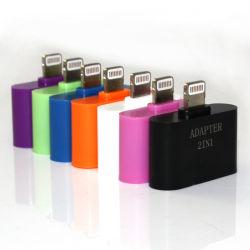 2 محول برق من نوع IN1 لجهاز iPhone 5 (8 PIN، 30 سن، USB ميكرو، الكل في 1)