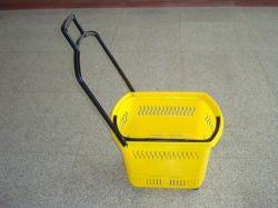Cesta de Rolete de compras de plástico (JT-AL-1)