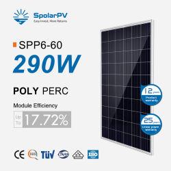 태양광 솔라 모듈 Poly 275W 280W 285W 290W 솔라 패널 루프탑 태양광 에너지 시스템