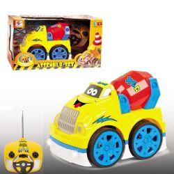 4 canales de dibujos animados de plástico modelo de coche R/C de juguete con música y luz intermitente (10214049)
