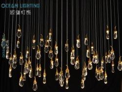 Kristall für Chandliers Leuchter grosses Loxary hängendes Leuchter-Kristalllicht für Hotel-Projekt