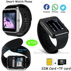 タッチ画面のBluetoothのGセンサーGt08が付いているスマートなギフトの腕時計