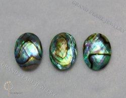 Doblete cabujón de Piedras Preciosas - Paua Shell combinado con cristal facetado - Oval