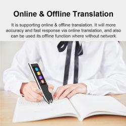 Scantalker 새 학습 기계 111 언어 번역 펜 스마트 대화 펜 음성 언어 변환기 장치