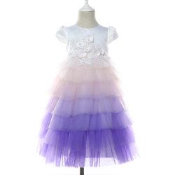 Nouvelles 2019 printemps été charmant manchon violet volant Pac Princess Tutu robe pour anniversaire fillette