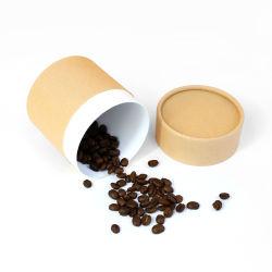 Низкое Firstsail MOQ КОРИЧНЕВЫЙ КОФЕ Kraft окно биоразлагаемых пищевых сортов бумаги цилиндра трубы для приготовления чая конфеты шоколад сушеные фрукты