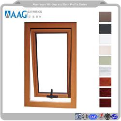 Perfil de aluminio de inclinación superior gire las puertas y ventanas