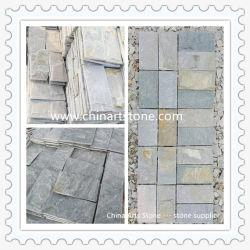 Natürlicher Quarz-Granit-Schiefer-Pilz-Wand-Fassadenelement-Stein