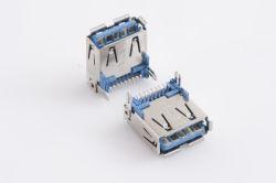 USB 3.0 Type 'a', Rechte hoek, SMT, Vergaarbak, usbx-A9fx-Xxm0-01