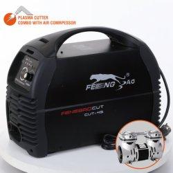 110V de alimentación portátil Scource Cortador de Plasma de aire Inverter con compresor