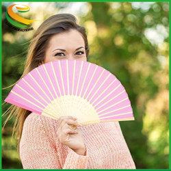 Mehrfarbige Bamboo Falten Lüfter Handlüfter Papier Gefalteter Lüfter für Hochzeitsfeier und Heimdekoration