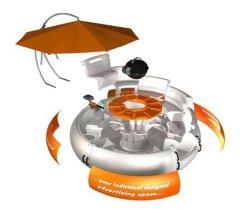 Beignet de Barbecue Barbecue Bateau de l'eau de salle à manger avec batterie rechargeable
