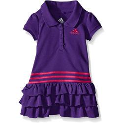أزياء الرياضة فتيات بولو اللباس مع الياقة المضلّعة
