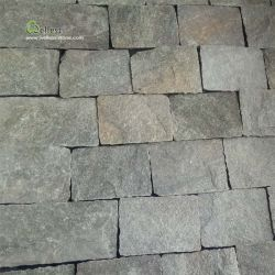 Vert naturel de quartzite revêtement mural Ledge Stone
