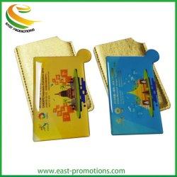 Promoción personalizada de Acero Inoxidable Espejo de bolsillo con el titular de tarjeta de PU