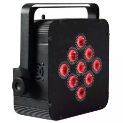La DMX512 9PCS 4EN1/5dans1/6 à 1 par la lumière de la batterie sans fil