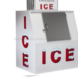 Contenitore refrigerato per ghiaccio in sacchetti per espositori/commerciali