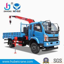 شاحنة HBQZ حمولة 4 أطنان مزودة برافعة تلسكوبية للتشييد