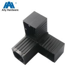 3本の足の黒いアルミニウムプロフィールのプラスチック角継手