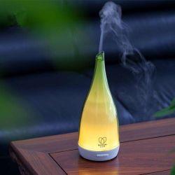 Runder GlasAromatherapy USB-Befeuchter-wesentliches Öl mit Duft-Duftstoff
