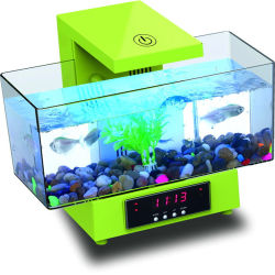Рыб и бак аквариум многофункциональных аккумулятор USB Mini рыб аквариум бака с помощью функции таймера светодиодный индикатор