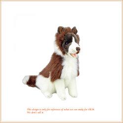 Super lindo perro suave con el pelo de animales de la banda de los juguetes
