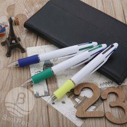 Mignon 4 couleurs stylo à bille plastique Stylo bille multicolore