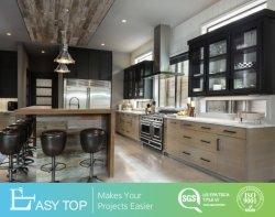 Canadá arcas congeladoras moderno Design Preto Face do Sacudidor de madeira da estrutura do armário de cozinha