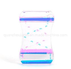 صنبور زيت ملون كريليك مبتكر من جهة التصنيع الأصلية (OEM) قطرات زيت ملونة سلّم توقيت سائل الساعة