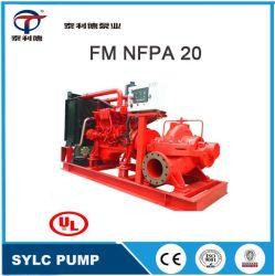 UL FM Nfpa20 Horizontale Doppelsaugung Zentrifugal-Mehrstufenjockey Diesel-Motor-Löschpumpenausrüstung