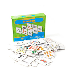 Logo personnalisé de taille standard d'impression Baby Enfants Les enfants chinois anglais ABC de l'apprentissage des cartes Flash de l'éducation en carton