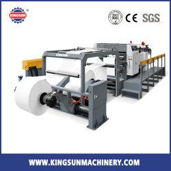 KS M o controle do servo da faca giratório duplo rolo de papel para máquina de corte de folhas