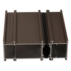 Faible prix rupture thermique Fenêtre profil en aluminium