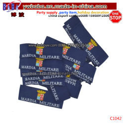 Acessórios de vestuário vestuário de etiquetas de identificação de tecidos de Damasco Embarcações artesanais (C1042)