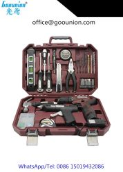 セットされる専門の供給のプラスチッククラフトのケースの動力工具の一定12Vリチウム電気ドリル(世帯DIYの接着剤銃)