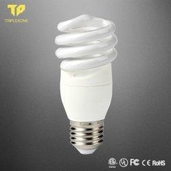 Energie van de Grondstoffen van de Basis CFL van de Huisvesting van de Ballast PBT van de Buis van het Glas van de Groothandelsprijs E27 B22 de Halve spiraalvormige 12W - de Lamp van de besparing