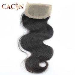 Top Ibeauty Base Seda Cru Indiano Virgem de cabelo humano Lace Encerramento 5 5 onda de Corpo