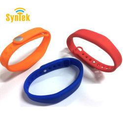 13.56MHz14443ISO UM MIFARE Classic 1K Multi-Colors NFC pulseira de silicone de RFID