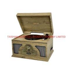 Leitor de discos de vinil de madeira Suportes Vitrola Antique Placa giratória