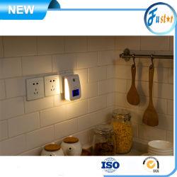 Generador automático de detección de las personas ion negativo anión luz nocturna Releaser Indoor wc / Sala de estar / Cocina / Limpiador Dormitorio olor generador de ozono