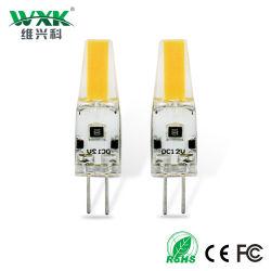 Le lampade 2W 3W 4W della PANNOCCHIA LED di Wxk G4 G9 scaldano la lampadina economizzatrice d'energia della lampada 180lm Non-Dimmable 3000K dell'indicatore luminoso del punto delle lampadine bianche di AC/DC 12V G4 LED per Cystle